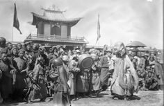 Images of religious TSAM dance performed in monasteries in Ulaanbaatar and in Manzushir monastery in Tuv province [1930s]