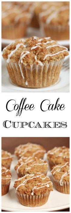 Coffee cake cupcakes offer the hominess of a classic coffee cake, made into cupcakes and topped with a drizzle of glaze.