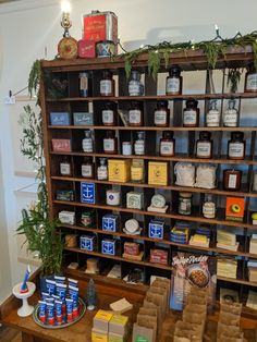 How cool is this shops display! Skincare, Shops, Candles, Display, Holiday Decor, Home Decor, Floor Space, Tents, Decoration Home