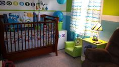 Kruz's Monster room - Nursery Designs - Decorating Ideas - HGTV Rate My Space Monster Room, Monster Nursery, Nursery Themes, Room Themes, Nursery Ideas, Themed Nursery, Monsters Inc Bedroom, Shared Boys Rooms, Kids Rooms