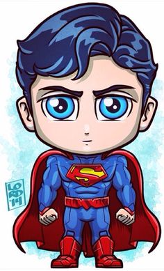 Chibi superman by lordmesa Chibi Superhero, Chibi Superman, Superman Drawing, Chibi Marvel, Marvel Art, Marvel Dc Comics, Superman Artwork, Comic Kunst, Comic Art