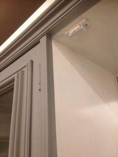 Washi tape edges on up cycled cabinet 💙💙