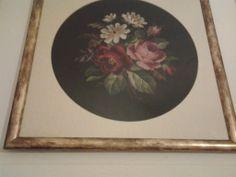 Bouquet di antiche rose vittoriane a mezzo punto.