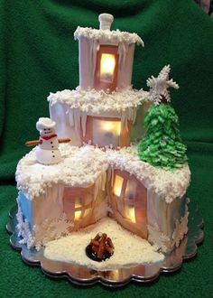 this is a CAKE- but how cute to recreate for fairy garden -looking like a cake
