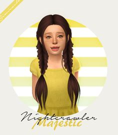 sims 4 cc // custom content child  hairstyle // Nightcrawler Majestic - Kids Version