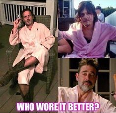 Haha. Been daft enough myself to wear a pink 1 #twd