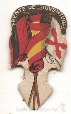 Frente de Juventudes. Emblema de Auxilio Social - Foto 1