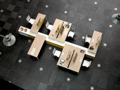Havicmeubelen-kantoor.nl - Gabe bench werkplek met aanbouwkast - Bench werkplekken - Werkplekken