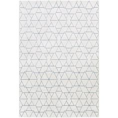Contempo Frost White 5 ft. 3 in. x 7 ft. 6 in. Indoor Area Rug