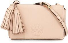 Tory Burch Thea Mini Leather Crossbody Bag, Pale Apricot - $395.00