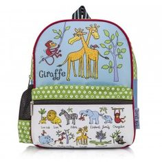 The perfect sized school backpack or for more exciting adventures. Our brightly-trimmed and boldly-printed Jungle Design children's rucksacks make a day on the road more comfortable for everyone involved, with soft straps to avoid sore shoulders.