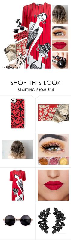 """""""Retro Diva"""" by itsatra ❤ liked on Polyvore featuring Casetify, Alexander McQueen, Holly Fulton and Kenneth Jay Lane"""
