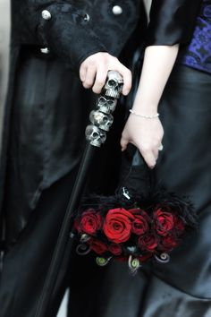 Except use Peanuts Cobra cane instead of the skull cane to incorporate him into the wedding
