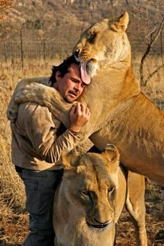 South African Kevin Richardson -- The Lion Whisperer. To read more about Kevin's wonderful projects or to volunteer at his sanctuary, visit www.lionwhisperer.co.za