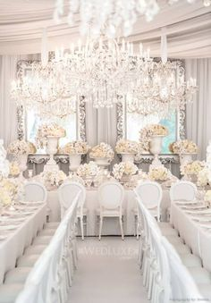 Gorgeous white wedding table!