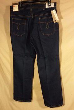 NEW VINTAGE Men's Levis RARE Action Slacks Blue Jeans Stretch USA MADE-36x30 #Levis #ClassicStraightLeg
