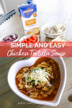 Are you looking for an easy family dinner recipe? Try this Simple and Easy Chicken Tortilla Soup that the whole family will love! #swanson #ad #preplessmeals