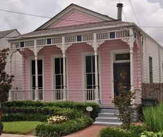 Pink house in New Orleans.