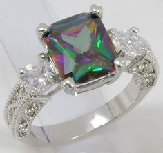 Sizes 7- 11 Enhanced Mystic Rainbow Topaz Ring (140). Starting at $undefined