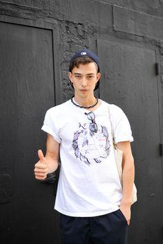 名前: Sen Mitsuji 撮影場所: ニューヨーク 職業: model Photo by: Shinichi Tsutsui
