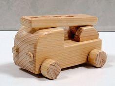 木のおもちゃ はたらく車・消防車 おもちゃ・人形 ウッド・スマイル ハンドメイド通販・販売のCreema