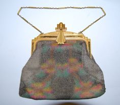 Check out this item in my Etsy shop https://www.etsy.com/listing/245453955/whiting-and-davis-dresden-mesh-purse-art
