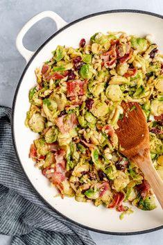 Easy & Delicious Warm Brussels Sprouts Salad