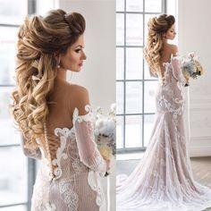 Beautiful bridal hairstyle long hair   fabmood.com #bridalhair #weddinghair #weddinghairstyle #weddinghairstyles