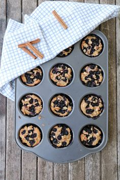 Grove, enkle frukostmuffins med blåbær - LINDASTUHAUG Smoothies, Cookies, Desserts, Food, Smoothie, Crack Crackers, Tailgate Desserts, Deserts, Biscuits