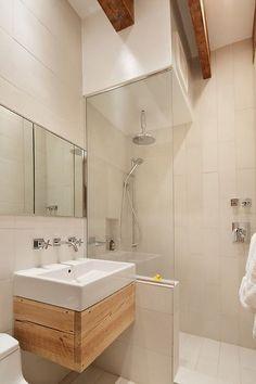 floating reclaimed vanity | Industrial Bathroom by 2NYAD_design