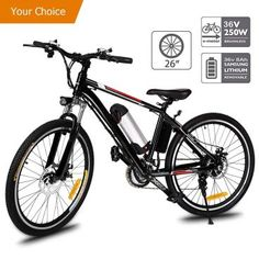 26 Inch Electric Mountain Bike Cycling E-mtb Bicycle E-bike Lithium Battery for sale online Electric Bike Review, Foldable Electric Bike, Best Electric Bikes, Folding Electric Bike, Electric Bicycle, Bike Folding, Mountain Biking, Mountain Bike Reviews, Electric Mountain Bike