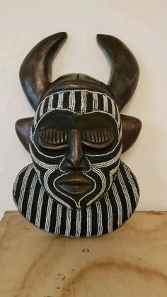 Learn more about this Authentic African Mask from Ghana in this product showcase video! #africanmask #africanhomedecor #africanart...