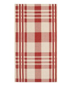 Look at this Red Plaid Hank Indoor/Outdoor Rug on #zulily today!