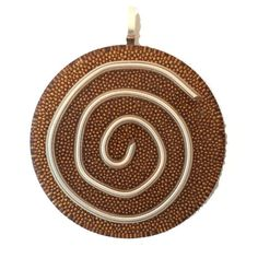 """Orgone, Orgonite Pendant, Orgonite Necklace, Sterling Silver Spiral, Micro Copper Beads, Orgone Generator, 1.5"""" Round, Sterling Silver Bail by AttunementShop on Etsy"""