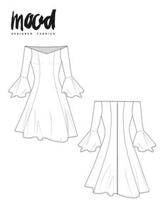 The Honeysuckle Dress - Free Sewing Pattern - Mood Sewciety Dress Sewing Patterns, Sewing Patterns Free, Free Sewing, Clothing Patterns, Free Pattern, Dress Pattern Free, Skirt Sewing, Skirt Patterns, Pattern Sewing