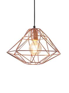 Copper Wire Pendant Light | Modern Furniture • Brickell Collection