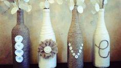 twined bottle decor