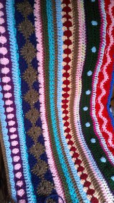 Stitches In Ash: As-We-Go Stripey Blanket