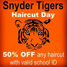 It's your turn Snyder Tigers ...December 27th is your HAIRCUT DAY; we're giving you 50% off any fresh haircut with a valid student ID.  Reserve your spot online at http://ift.tt/1LBPLcP or just walk-in #supportstudents #snyder #highschool #tigers #henrysnyder #jerseycity #jerseycitynj #jersey #nj @jerseycitynj @jcfamilies @mo5mike @moneyjose24 @dacreatorworkss @bella_k_carter @_ezlikespesos_ @rnbmusicstilllives @everythingstrong