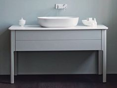 Dove grey vanity unit - not sure what style vanity you're going with but colour wise this will work