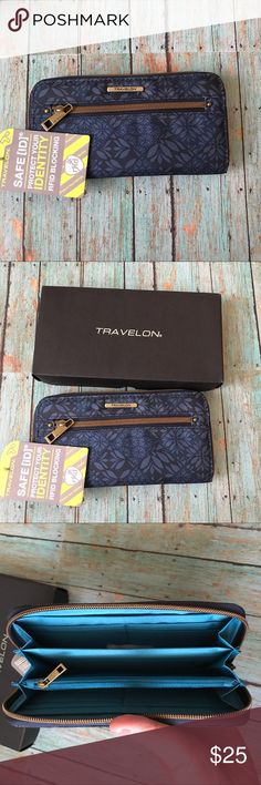 NWT travelon wallet! Protect your identity when you travel with this cute wallet from travelon! Perfect for exploring this summer! 🌏 Bags Wallets