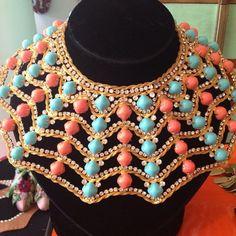 Incredible #vintage #kennethjaylane #collar #color #fashion #girls #summer #style #mdvii