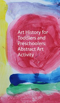 Toddlers & preschoolers will learn about shapes, colors and self-expression through this fun art history activity.