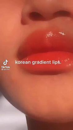 Asian Eye Makeup, Eye Makeup Art, Korean Makeup Tips, Makeup Lips, Makeup Tutorial Eyeliner, Makeup Looks Tutorial, Lip Tutorial, Makeup Hacks Videos, Ulzzang Makeup