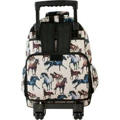 Wildkin Horse Dreams High Roller Rolling Backpack  - Click image twice - See a larger selection of little girls backpacks at http://kidsbackpackstore.com/product-category/little-girls-backpack/ - kids, juniors, back to school, kids fashion ideas, school supplies, backpack, bag , teenagers, girls, boys, gift ideas