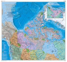 The Atlas of Canada recently published a beautiful new cartography product featuring the Canadian North