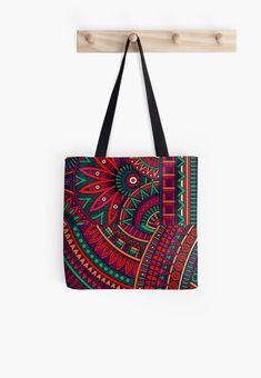 'Etnic patchwork pattern - motifs fleurs etniques' Tote bag by LEAROCHE Patchwork Patterns, Shoulder Bag, Tote Bag, Bag, Shoulder Bags, Totes, Tote Bags