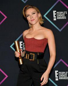 Scarlett Johansson at the 2018 People's Choice Awards in Santa Monica – Celeb Central Scarlett Johansson, Christina Milian, Jordyn Jones, Santa Monica, Beautiful Actresses, Actors & Actresses, Rihanna, Female Movie Stars, Kardashian
