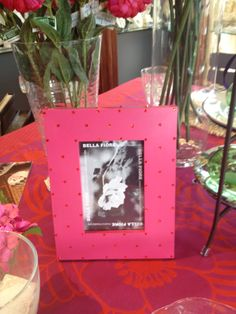 Available at Mary Tuttle's Flowers and Gifts, Chesterfield, MO Fine Linens, Chesterfield, Hot Pink, Mary, Frame, Flowers, Gifts, Home Decor, Homemade Home Decor