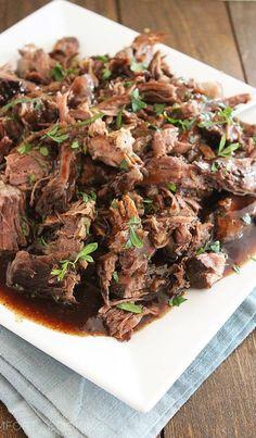 Slow Cooker Balsamic Glazed Roast Beef Recipe